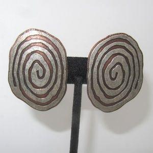Vintage Modernist Funky Earrings